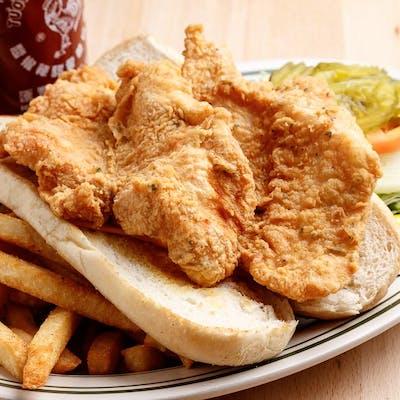 Fried Catfish Po'boy Dinner