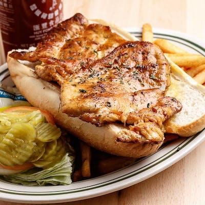 Grilled Chicken Po'boy Dinner