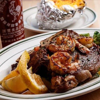 T-Bone Steak & Shrimp