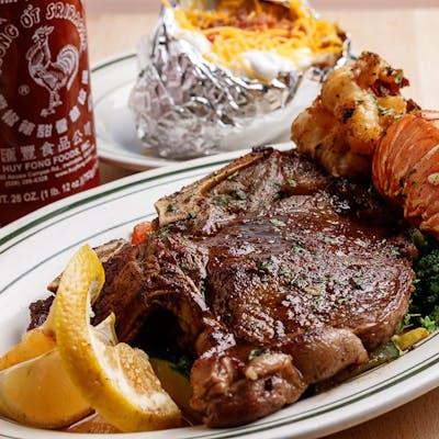 T-Bone Steak & Lobster