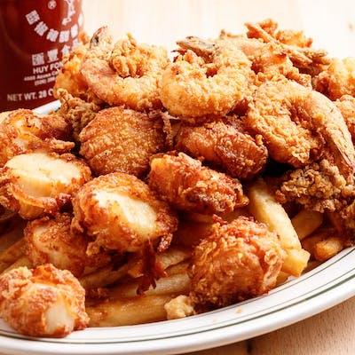 (9 pc.) Shrimp, (9 pc.) Oysters & (9 pc.) Scallop