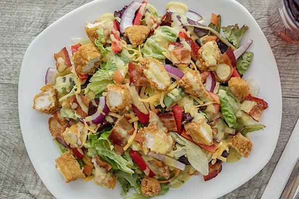 Honey Mustard Chicken Crunch Salad