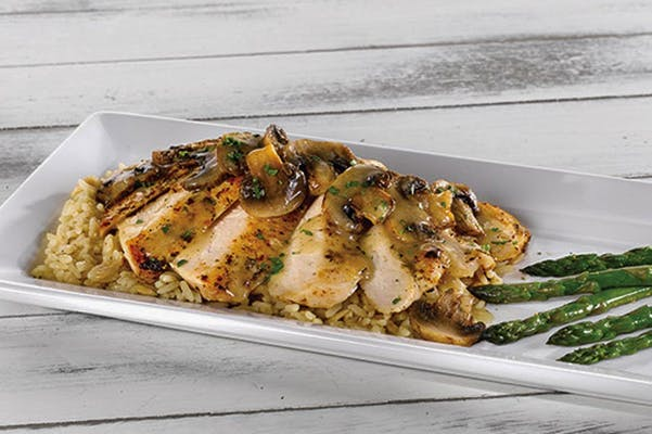 Grilled Chicken with Mushrooms & Asparagus