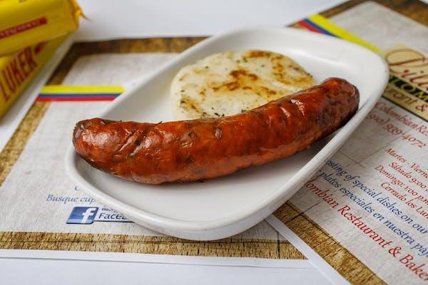 Chorizo Colombiano con Arepa ó Papa (Colombian Sausage)