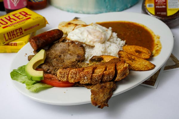 Bandeja Paisa (Colombian Country-Style Plate)