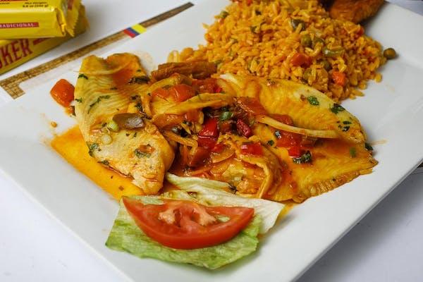 Filete de Pescado Frito o en Salsa (Tilapia Filet)