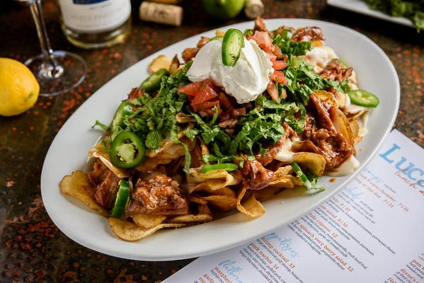 Lunch Pork Nachos