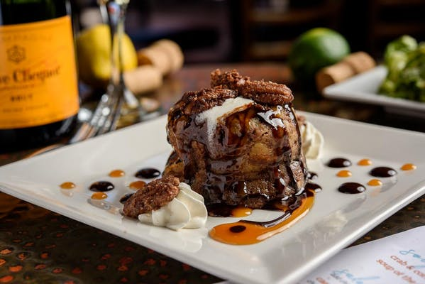 New Orleans Bread Pudding & Caramel Sauce