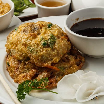 E4. Vegetable Egg Foo Young