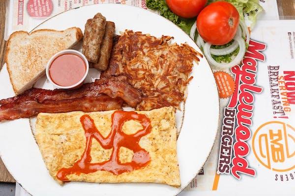 Stuffed Mac & Cheese Omelette