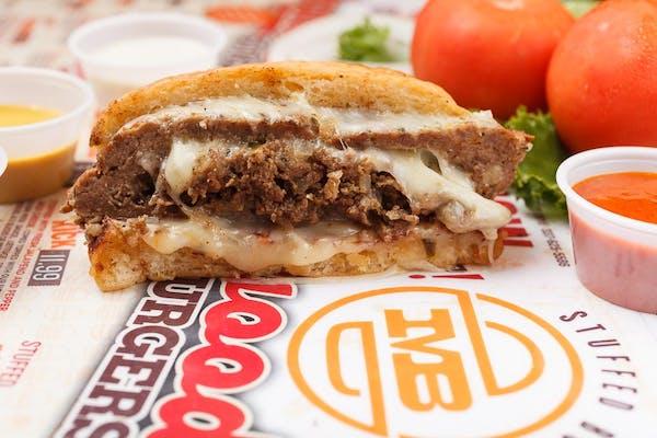 Stuffed Philly Cheesesteak Burger