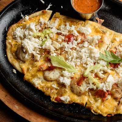 Gulf Coast Shrimp & Crab Flatbread