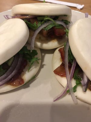 Steamed Bun with Pork Char Stew