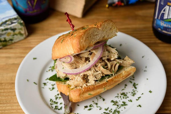 Rosemary Pulled Chicken Sandwich