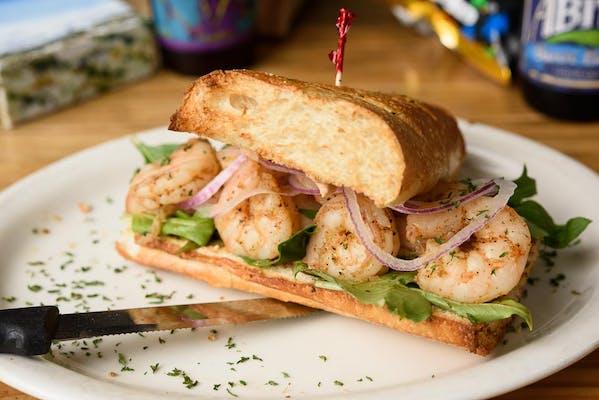 Cajun Boiled Shrimp Sandwich