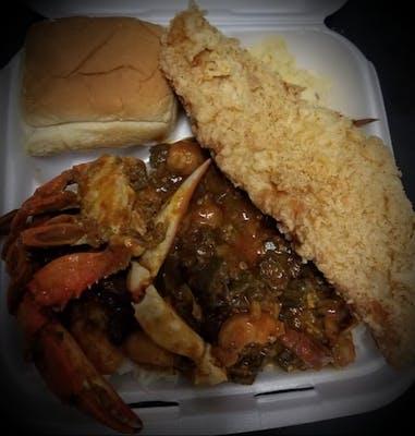 Seafood Okra Dinner/Plate