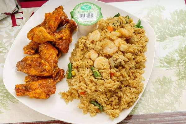 #10 Fried Rice & (10 pc.) Wing Combo