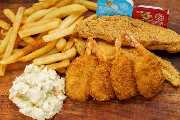 (2 pc.) Fish & (4 pc.) Shrimp Combo