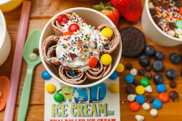 #14 M&M Chocolate Rolled Ice Cream