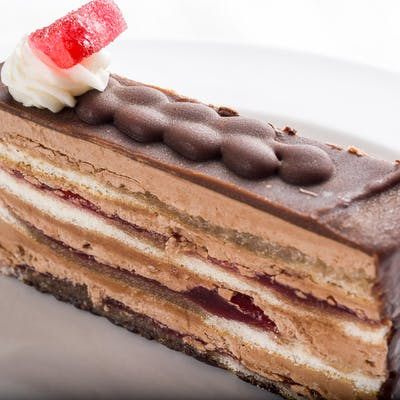 Raspberry Sacher Slice