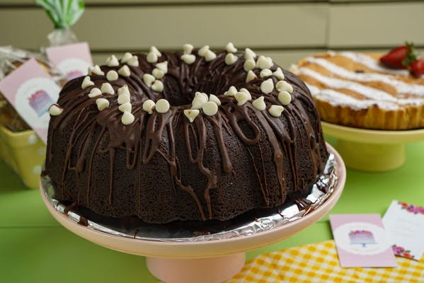Triple Chocolate Buttermilk Pound Cake