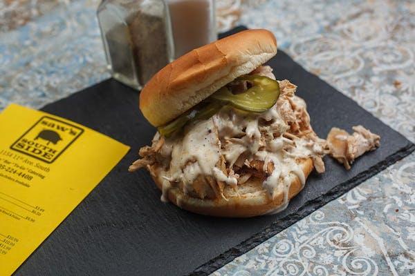 Smoked Chicken & White Sauce Sandwich