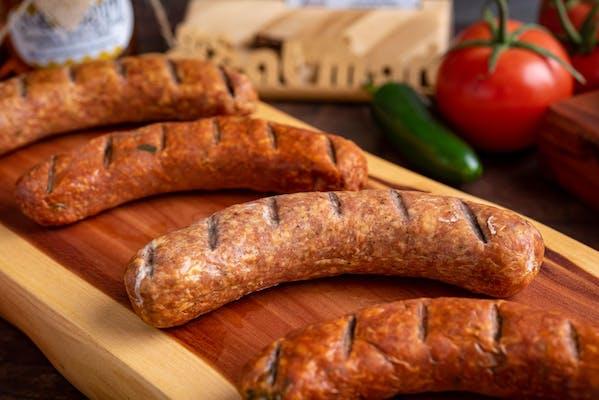 Applewood-Smoked Blue Ribbon Bratwurst with Cheddar Links