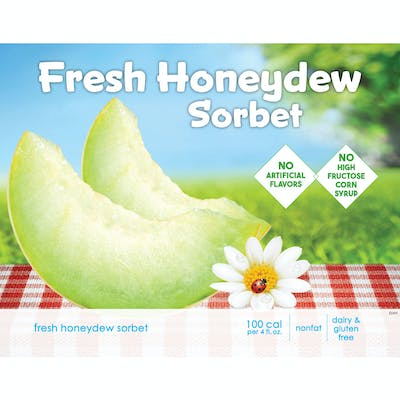 Fresh Honeydew Sorbet