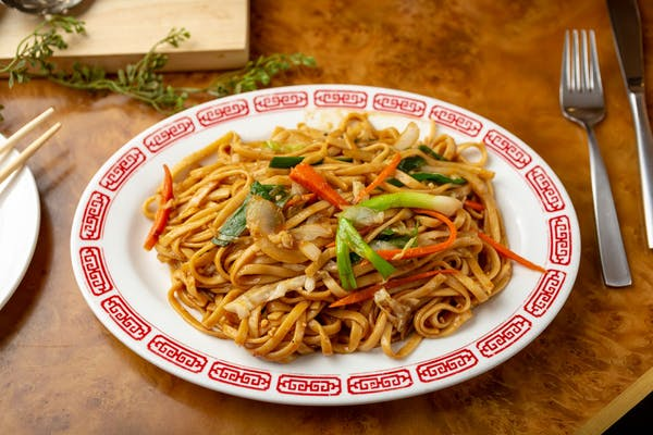 L64. Vegetable Lo Mein or Rice Noodles