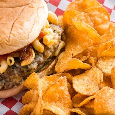 Crispy Boudin Burger
