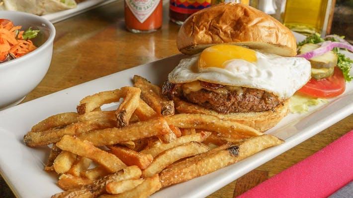 Bacon, Egg, & Cheese Burger