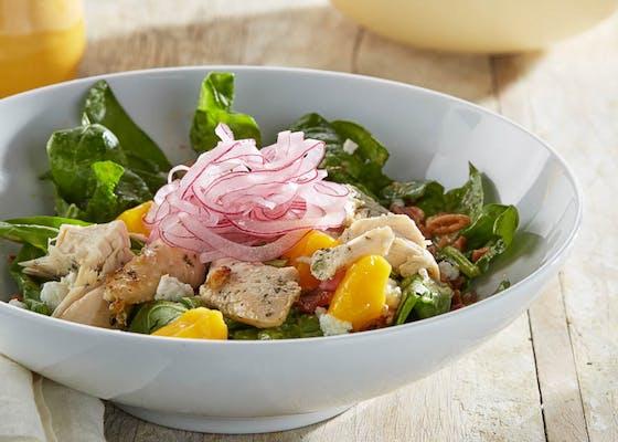 Grilled Chicken, Mango & Spinach Salad