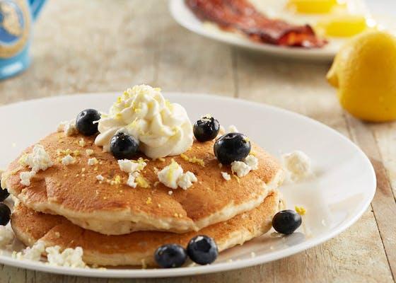 Lemon Blueberry Goat Cheese Pancakes