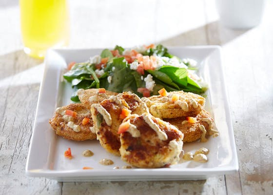 Crab Cakes & Fried Green Tomatoes