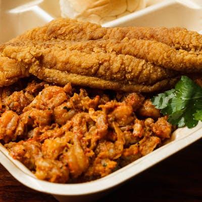 Crawfish Étouffée & Fried Fish