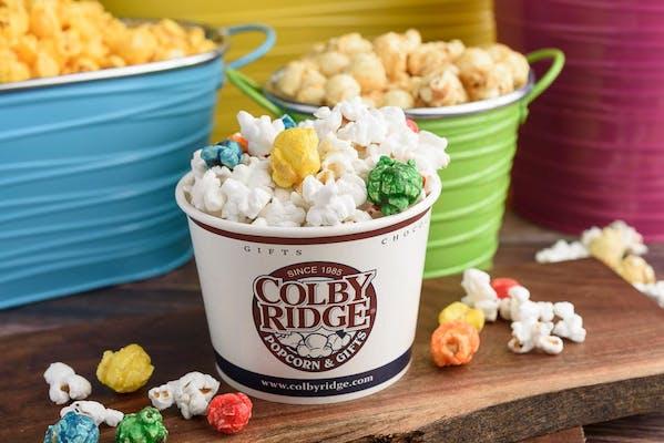 Gourmet White & Rainbow Mix Popcorn