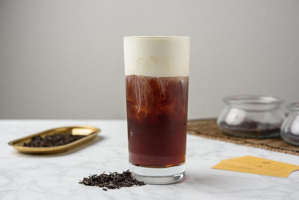 Black Tea With Cheese Foam
