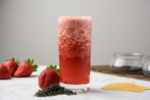 Strawberry Green Tea Slush
