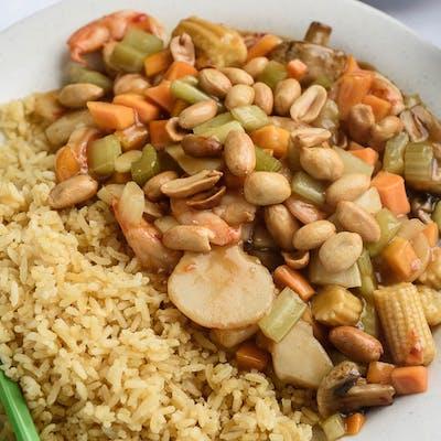 A16. Kung Pao Shrimp Platter