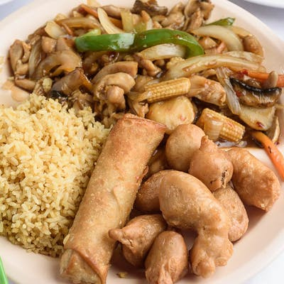 C13. Spicy Chicken & Pork Combo