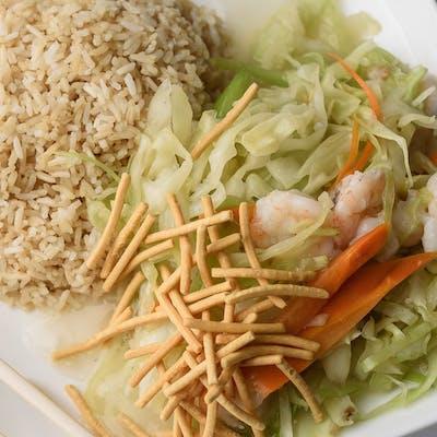 A11. Shrimp Chow Mein Platter
