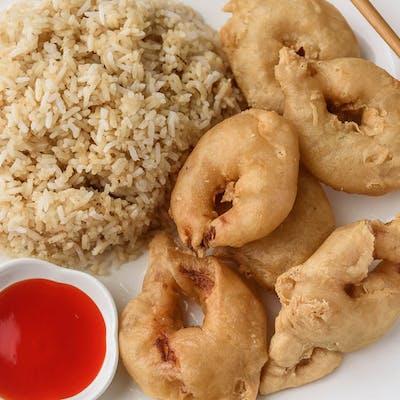 A12. Sweet & Sour Shrimp Platter