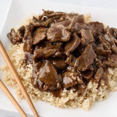A17. Steak & Rice Platter