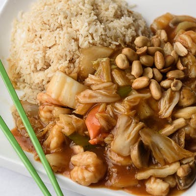 A18. Kung Bao Shrimp Platter