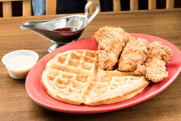 Chicken & Waffles Lunch Plate