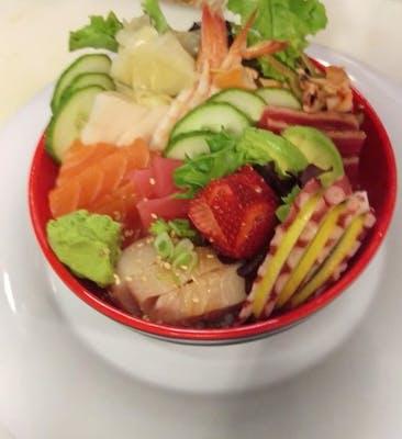 Chirashi Bowl (Sashimi over rice)