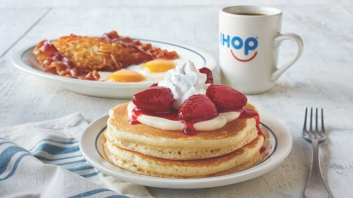 Strawberry 'N Cream Pancake Combo