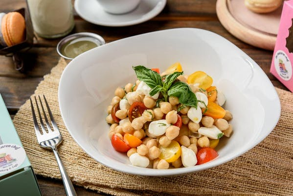 Chickpea Tomato & Basil Salad