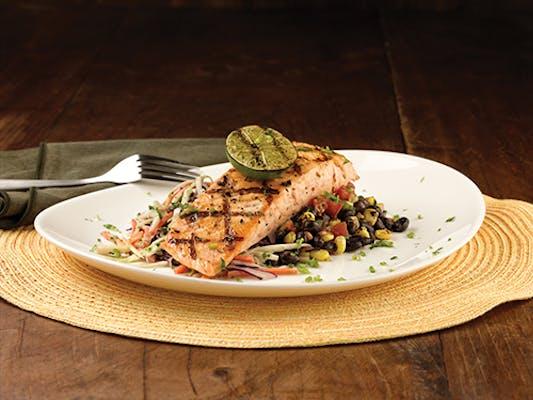Grilled Salmon & Black Bean Salad