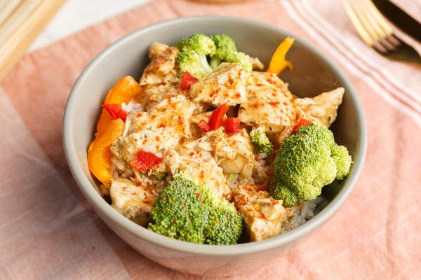 Chicken Rice Bowl with Broccoli